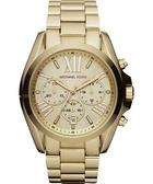 【台南 時代鐘錶 Michael Kors】MK5605 典雅羅馬字 鋼錶帶女錶 香檳金 43mm
