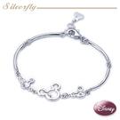 《SilverFly銀火蟲銀飾 》Disney迪士尼-MB909-情深米奇 銀墜飾手環