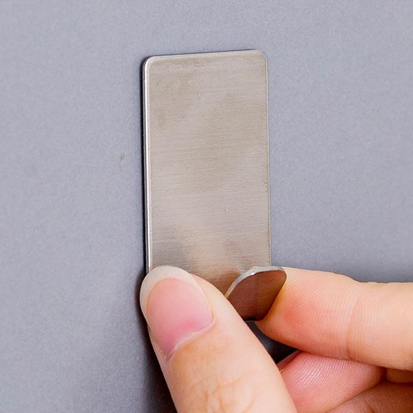 單入不銹鋼掛勾 雙鉤 強力無痕免黏貼掛勾 壁掛式免釘 廚房 衣鉤 鑰匙 居家收納【SV6875】BO雜貨