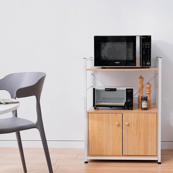 威瑪索 雙門兩層置物架 餐櫃 廚房架 廚房櫃 櫥櫃 -寬60深40高83cm