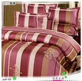 【單人床罩】/雙人配件(3.5*6.2尺)/高級五件式100%純棉單『怡然自得』紅*╮