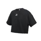 PUMA 女不收邊短袖T恤(歐規 休閒 寬版 上衣 圈毛≡體院≡ 53253901