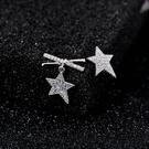 【免運到手價$98】耳釘女氣質簡約個性不對稱蝴蝶結星星小耳墜耳環韓國耳飾