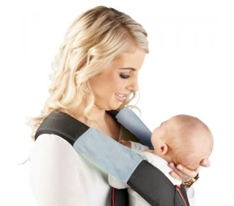 紐西蘭 Mum 2 Mum 機能型神奇口水墊-粉藍 口水墊x2入 背巾 背帶