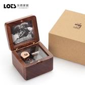 照片相框音樂盒復古木質天空之城八音盒圣誕情人創意畫框生日禮物