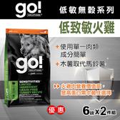 【毛麻吉寵物舖】Go! 低致敏火雞肉無穀全犬配方 12磅 6磅兩件優惠組-WDJ推薦 狗飼料/狗乾乾