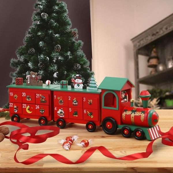 CY潮流裝飾品ChristmasCY潮流火車advent倒計時日歷抽屜calendar裝飾禮品 免運 CY潮流