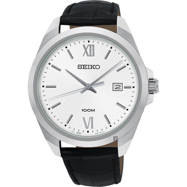 SEIKO 精工 城市時尚石英手錶-銀/42mm 6N42-00H0C(SUR283P1)