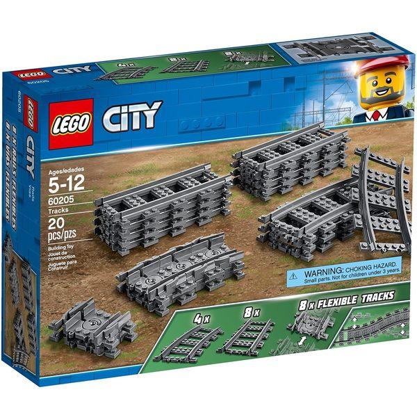 【LEGO 樂高積木】 City城市系列-軌道和彎道 LT-60205