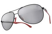 RayBan 太陽眼鏡 RB8313M F0096G (黑紅-淡白水銀灰鏡片) 法拉利聯名款 # 金橘眼鏡