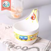 兒童碗 Yomerto兒童碗筷套裝可愛卡通陶瓷寶寶飯碗家用創意個性小碗餐具 99免運 萌萌
