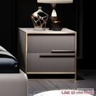 床頭櫃後現代床頭櫃不銹鋼輕奢創意床頭櫃北歐小戶型儲物櫃北歐風CY『新佰數位屋』