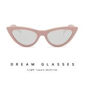 時尚貓眼太陽鏡 歐美個性三角形墨鏡 太陽眼鏡【五巷六號】y33