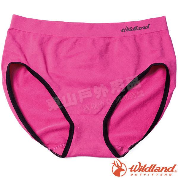 Wildland 荒野 W3661-09桃紅色 女彈性抗菌中高內褲 透氣內褲/快乾內褲/運動內褲/快乾三角褲*