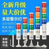 警示燈 多層警示燈LED三色警示燈聲光報警器24V220V機床指示信號塔燈TB50 快速出貨