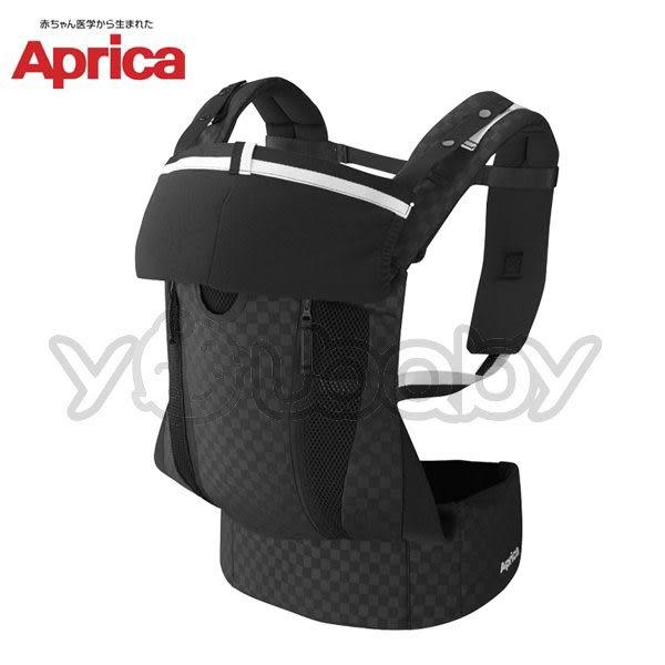 愛普力卡 Aprica 黃金比例分壓腰帶型揹巾 COLANHUG LUXE-格紋黑