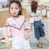 童裝女童短袖t恤夏裝女孩喇叭袖T恤洋氣 LQ5281『小美日記』