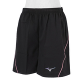 Mizuno [J2TB175309] 女 路跑褲 短褲 運動 慢跑 單層 口袋 透氣 舒適 反光 美津濃 黑