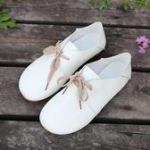豆豆鞋女春季2018新款女鞋百搭韓版學生單鞋森女系鞋子平底小白鞋  晴光小語