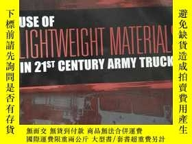 二手書博民逛書店Use罕見of Lightweight Materials in