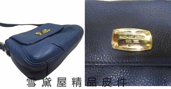 ~雪黛屋~MICHAEL KORS斜側包國際品牌磁釦型蓋式主袋100%進口軟牛皮革皮革隨身品輕巧包35F2GJSC1L
