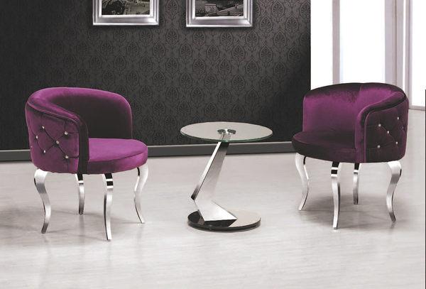 【 IS空間美學】6005紫紅晶鑽洽談椅