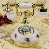 歐式田園復古仿古有線電話老式古董陶瓷家用固定電話座機 igo街頭潮人