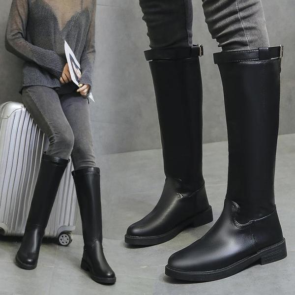 長靴 平底長筒靴女不過膝長靴高筒馬丁靴新款秋冬網紅秋款靴子馬靴  夏季新品