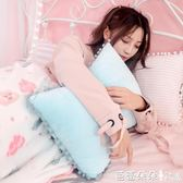 靠枕 可愛球球蝴蝶結車用抱枕兩用北歐ins床頭沙發靠墊可拆洗 芭蕾朵朵