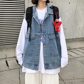 馬甲外套女年新款韓版工裝牛仔馬夾寬松bf外穿背心坎肩潮 Korea時尚記