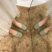 豆豆鞋女新款秋鞋單鞋百搭春秋平底網紅淺口黑色上班工作鞋女 阿卡娜