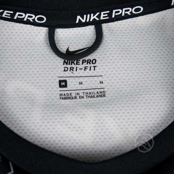 Nike Pro Fleece 女子 黑色 太空棉 短版 滿版 長袖 大學T CJ3589-010