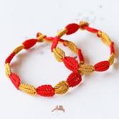 慶祥泰開光原創手工編織開枝散葉紅繩手鏈求子送子葉子手繩開運 蜜拉貝爾