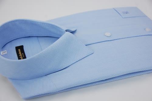 【金‧安德森】藍色斜紋長袖襯衫