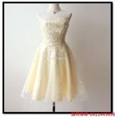 (45 Design) 訂做款式7天到貨新娘長款敬酒禮服亮片抹胸魚尾晚禮服優雅性感修身主持演