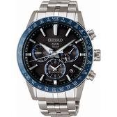 【台南 時代鐘錶 SEIKO】精工 ASTRON 太陽能GPS鈦金屬錶款 SSH001J1@5X53-0AB0B 藍圈 43mm