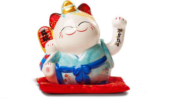 【金石工坊】戀愛丹滿和服搖手貓(高11CM)招財貓 幸福良緣 好姻緣 好人緣 招桃花