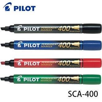 買一盒送一盒 日本 PILOT 百樂 SCA-400 斜頭 Permanent Marker 油性麥克筆 12支入 /盒