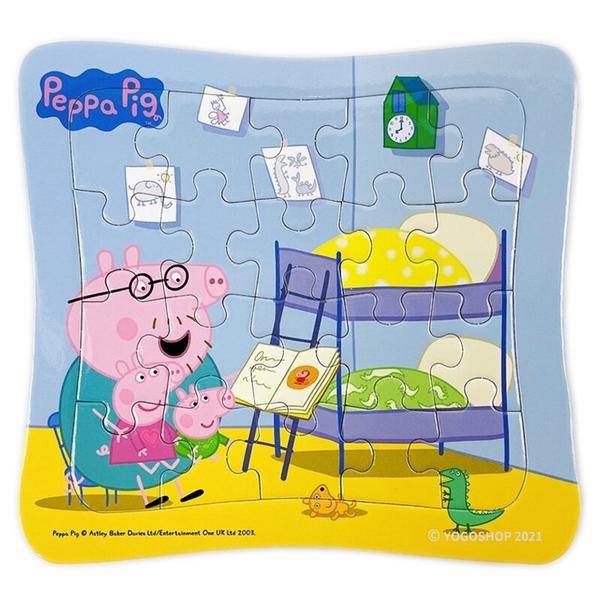 粉紅豬小妹拼圖 快樂節日拼圖盒 20片拼圖 C675172/一盒6款入(定250) Peppa Pig 佩佩豬 正版授權 MIT製