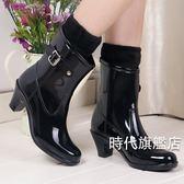 雨鞋女士新品高跟雨鞋女時尚水鞋防水防滑雨靴春夏季水靴膠( 中秋烤肉鉅惠)