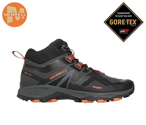 丹大戶外【MERRELL】 MQM Flex 2 Mid GTX 男鞋 防水健行鞋/登山鞋 黑橘 ML034225