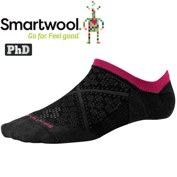 SmartWool Run SW0SW185-001黑 女 PhD跑步超輕隱形襪 美麗諾羊毛襪/機能排汗襪
