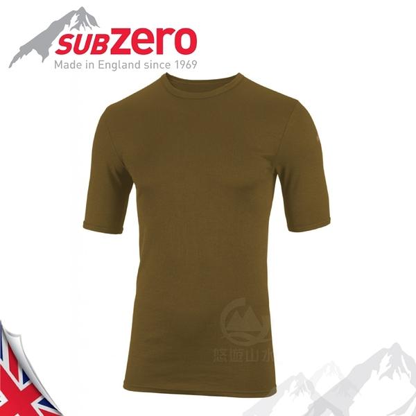 【Sub Zero 英國 Factor1 短袖排汗衣《卡其》】Factor 1 Base/內層衣/運動衣/防曬