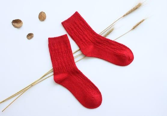 [協貿國際]秋冬季保暖毛圈短襪女士中筒抗寒女襪