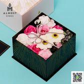日本情人節教師節禮物香皂花禮盒送女友閨蜜實用結婚禮物禮品  聖誕慶免運