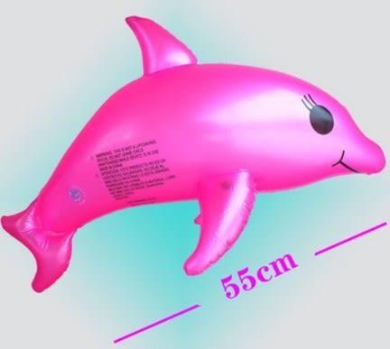 [協貿國際]  充氣海豚玩具寶寶洗澡沙灘戲水玩具 (2入)