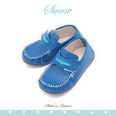 Swan天鵝童鞋-中童撞色度假風簡約休閒鞋 3883 藍