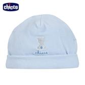 chicco-寶貝熊系列-剪毛絨嬰兒帽-藍