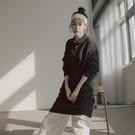 Queen Shop【01085092】POLO領造型長版棉質洋裝 兩色售*現+預*