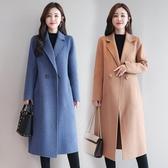 西裝外套雙面呢羊絨大衣女中長款流行新款韓版秋冬高端羊毛呢外套女裝 嬡孕哺